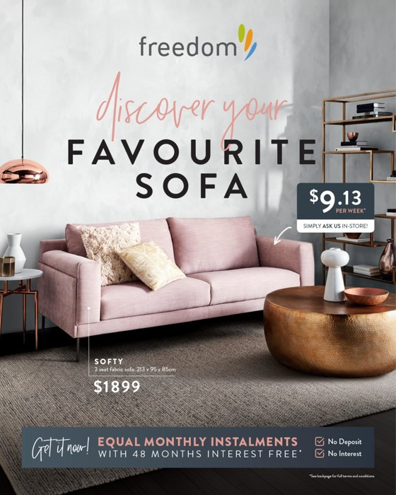 Catalogue Freedom Furniture   Discover Your Favourite Sofa